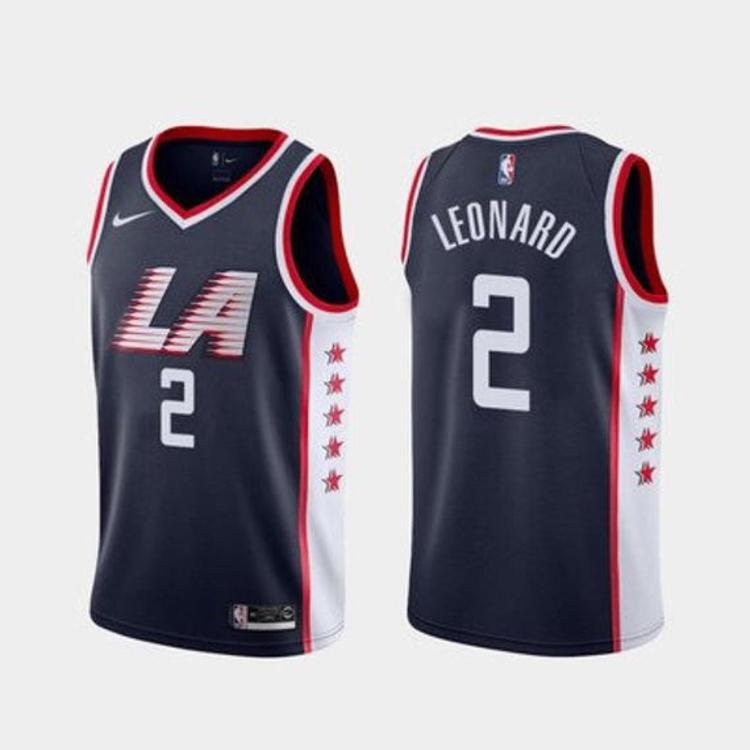finest selection 021ee 09be0 2019-20 LA Clippers Leonard Kawhi 2 Fully Stitched Jersey