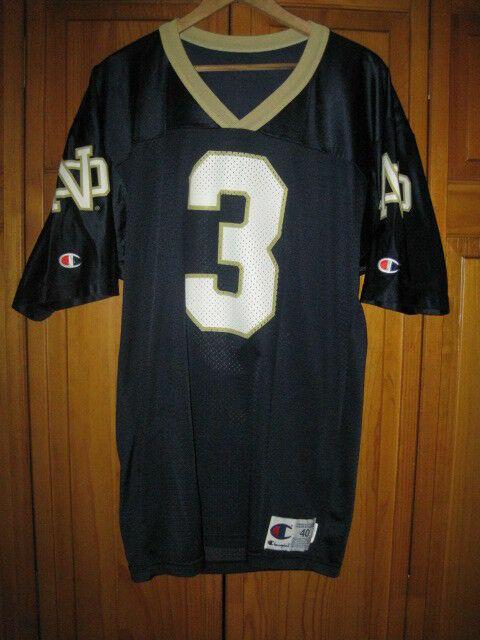 reputable site a379b 9ca17 Vintage Notre Dame Fighting Irish college football jersey men's 40 #3  Champion