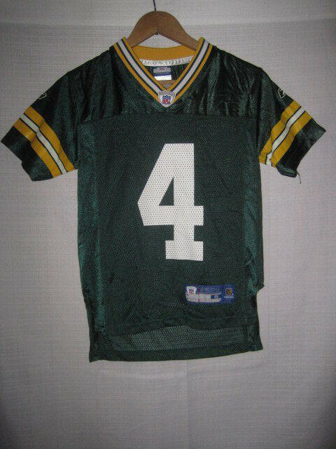 88f18459 Green Bay Packers Brett Favre Reebok Football Jersey kids boys S 8 NFL