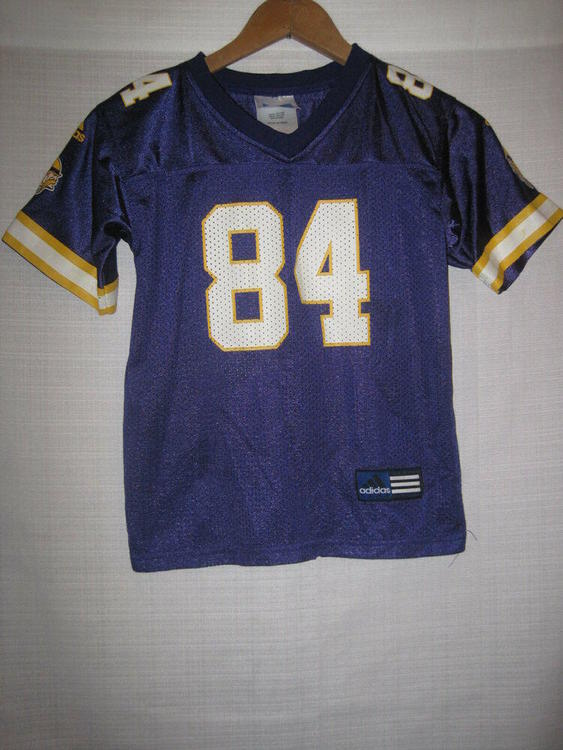 super popular 3a97c 2d21c Minnesota Vikings Randy Moss Football Jersey kids boys 5/6 purple Adidas NFL