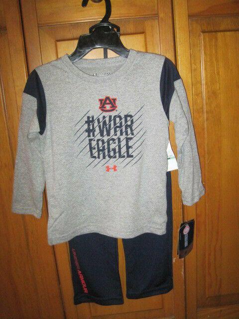 best service 6e9e9 6e73a Auburn Tigers Under Armour Pants & Shirt Set 18 months basketball NWT