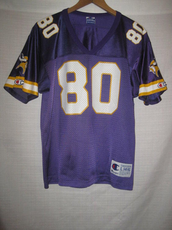sale retailer dc8df fc4dd Vintage Minnesota Vikings Cris Carter Football Jersey kids boys L 14/16