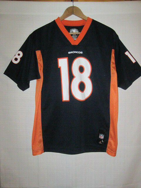 396d2ce5 Denver Broncos Peyton Manning football jersey kids boys L 14/16