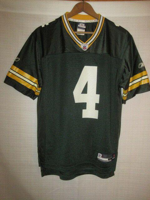 sale retailer 68417 0ffaf Green Bay Packers Brett Favre Reebok football jersey kids boys L 14/16