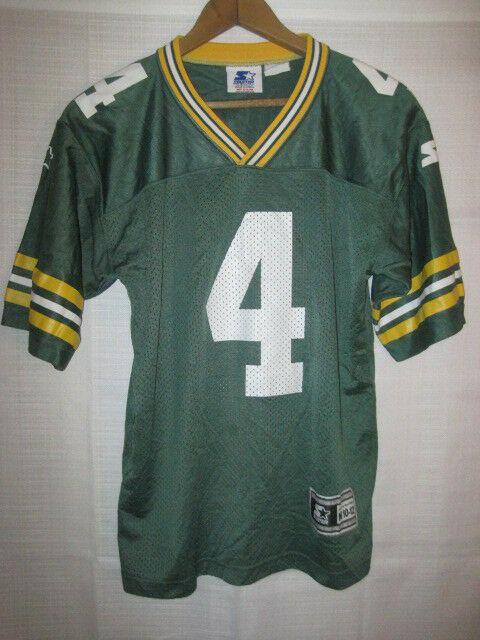 reputable site f82bb f2692 Vintage Green Bay Packers Brett Favre Starter football jersey kids boys M  10/12