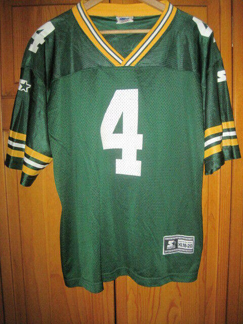 bfbfd988 Vintage Green Bay Packers Brett Favre football jersey kids boys XL 18/20  Starter