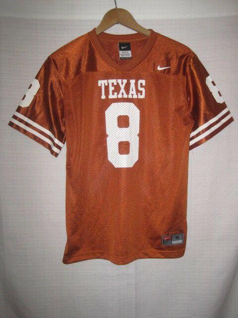 best service 9f429 59a2e Texas Longhorns Nike College Football Jersey kids boys M 12/14 #8 NWOT NEW