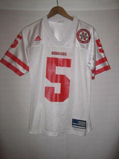 buy popular 10f85 5a2a8 Nebraska Cornhuskers Football Jersey kids boys M 10/12 white #5