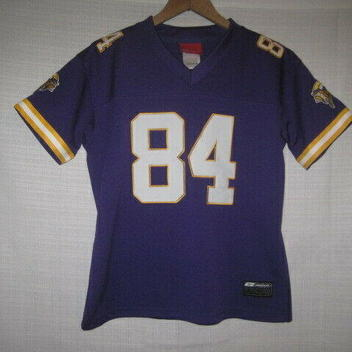 28f2dc92 Minnesota Vikings Randy Moss Reebok Football Jersey women's S purple SEWN  NFL
