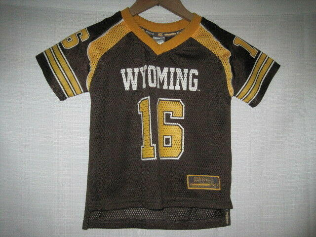 reputable site b9043 a6e69 Wyoming Cowboys Football jersey kids boys 4T brown #16