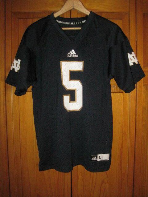 huge discount 8d83a dbd78 Nortre Dame Fighting Irish college football jersey kids boys L blue #5  Adidas