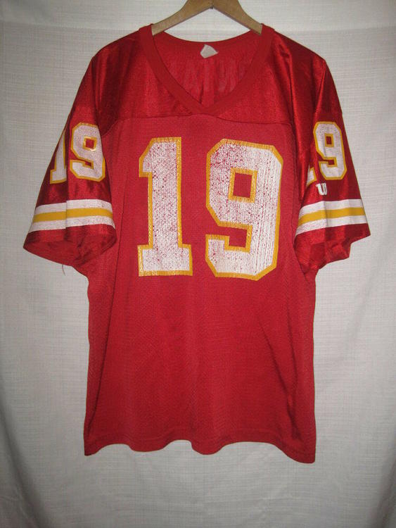 timeless design 39301 851b4 Vintage Kansas City Chiefs Joe Montana Wilson Football Jersey men's XL red