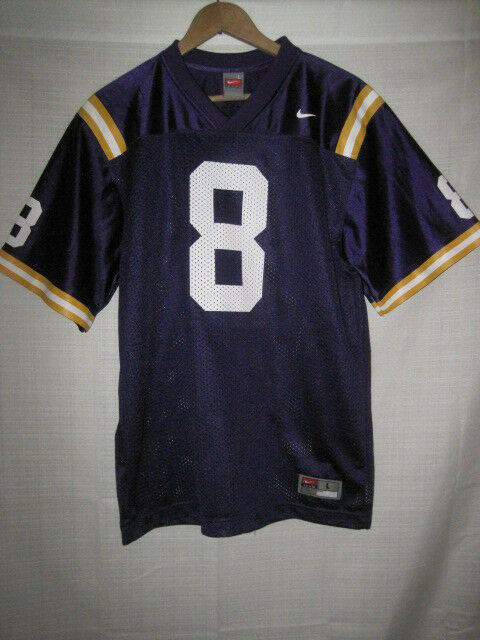 reputable site fbff1 85415 LSU Tigers Nike college football jersey kids boys youth L #8 Louisiana State