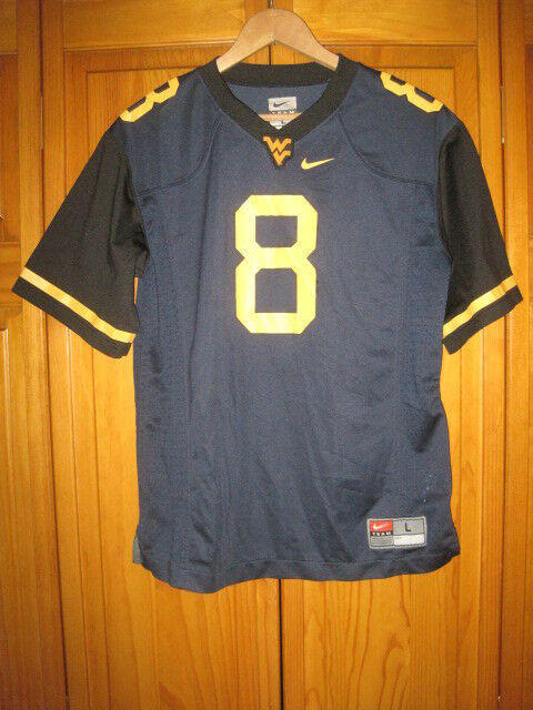 low priced 46c8f 46df9 West Virginia Mountaineers Nike college football jersey kids boys L #8
