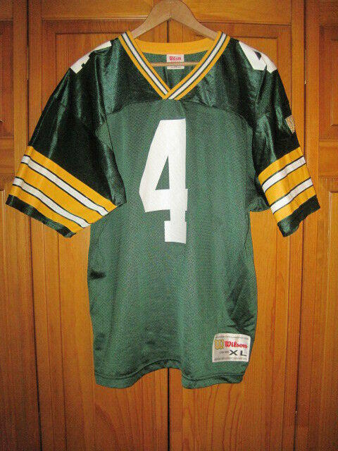 2ea2a50f Vintage Green Bay Packers Brett Favre Wilson football jersey boys kids XL  18/20