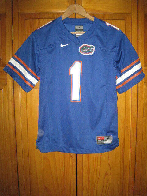 premium selection cfc95 cf68e Florida Gators Nike college football jersey kids boys youth M blue #1