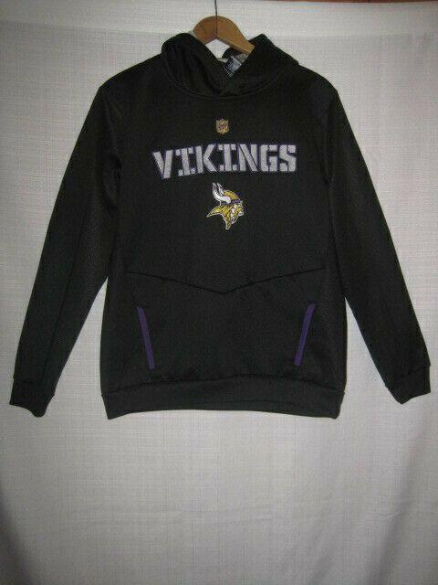 outlet store 815f3 85f3d Minnesota Vikings Football Sweatshirt Hoodie kids boy L 14/16 black