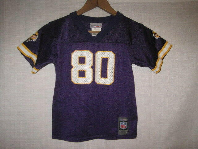 official photos 7cfd0 54c17 Vintage Minnesota Vikings Cris Carter football jersey kids boys L 7 purple