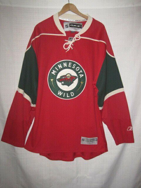 cheap for discount 297cb 77358 Minnesota Wild Reebok Hockey Jersey men's XXL red SEWN NHL