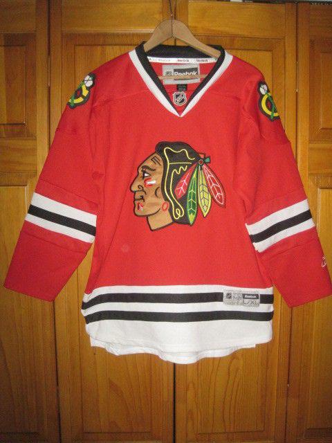 competitive price f67c3 efd84 Chicago Blackhawks Reebok hockey jersey kids boys L/XL SEWN NHL