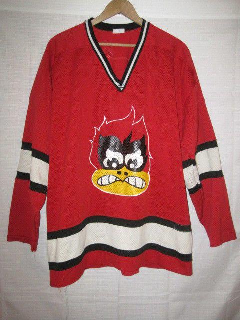 new concept 297dd 43366 Coon Rapids Cardinals game worn high school hockey jersey red #1 Minnesota