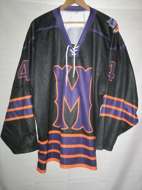 sports shoes e45c1 b2ab1 Minneapolis Storm Throwback Hockey Jersey men's M black #4