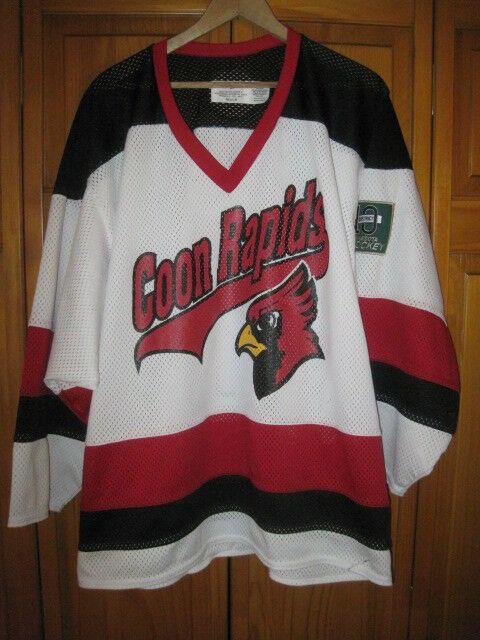 newest 7922d a887a Coon Rapids Cardinals hockey jersey men's M white #4 Minnesota