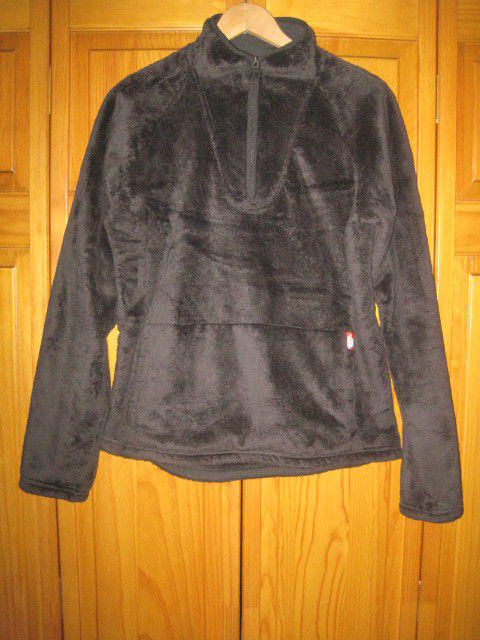 01028cb2e The North Face Mossbud Pullover Fleece Jacket women's M black camping hiking
