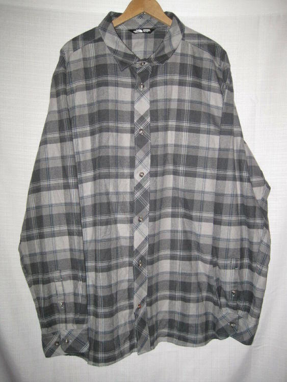 d48bb88b3 The North Face Plaid Long Sleeve Shirt men's XXL hiking NWOT NEW flannel