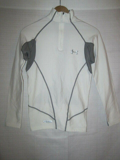 oficjalny sklep profesjonalna sprzedaż amazonka Under Armour Metal Cold Gear Zip Up Shirt men's S white running fitness ski  snow