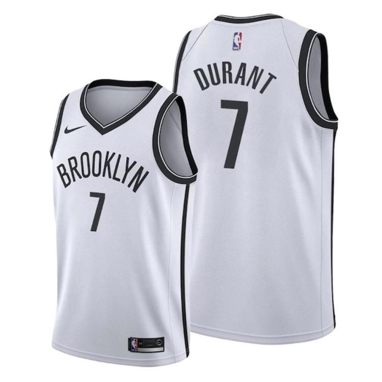 factory authentic b9d04 d665f 2019-20 Brooklyn Nets Durant 7 Fully Stitched Jersey