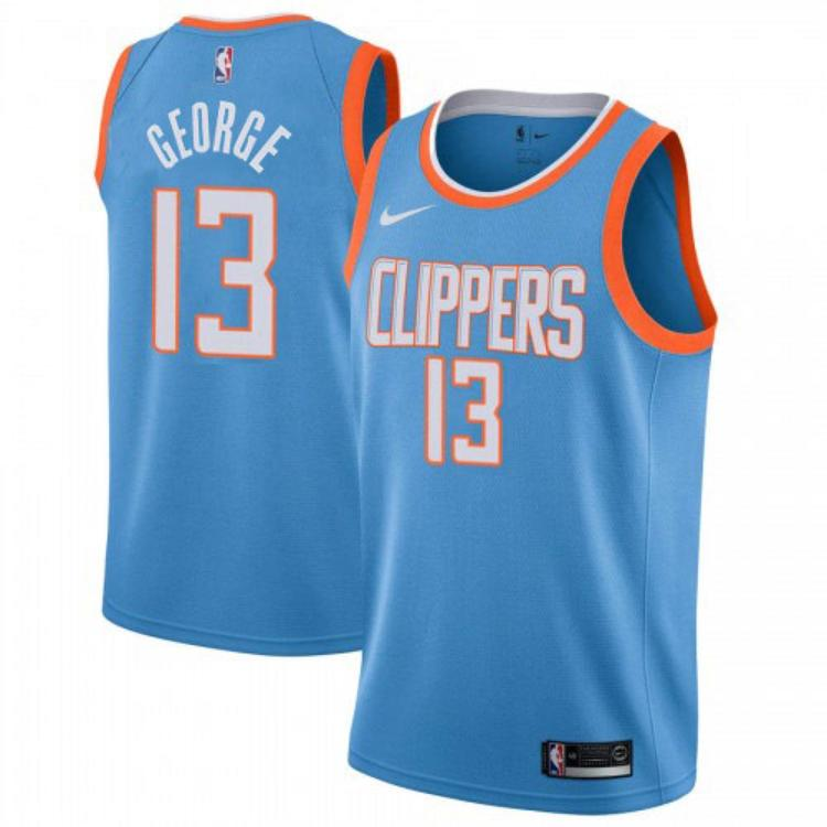 new style b4b3d 4900f 2019-20 LA Clippers George 13 Fully Stitched Jersey