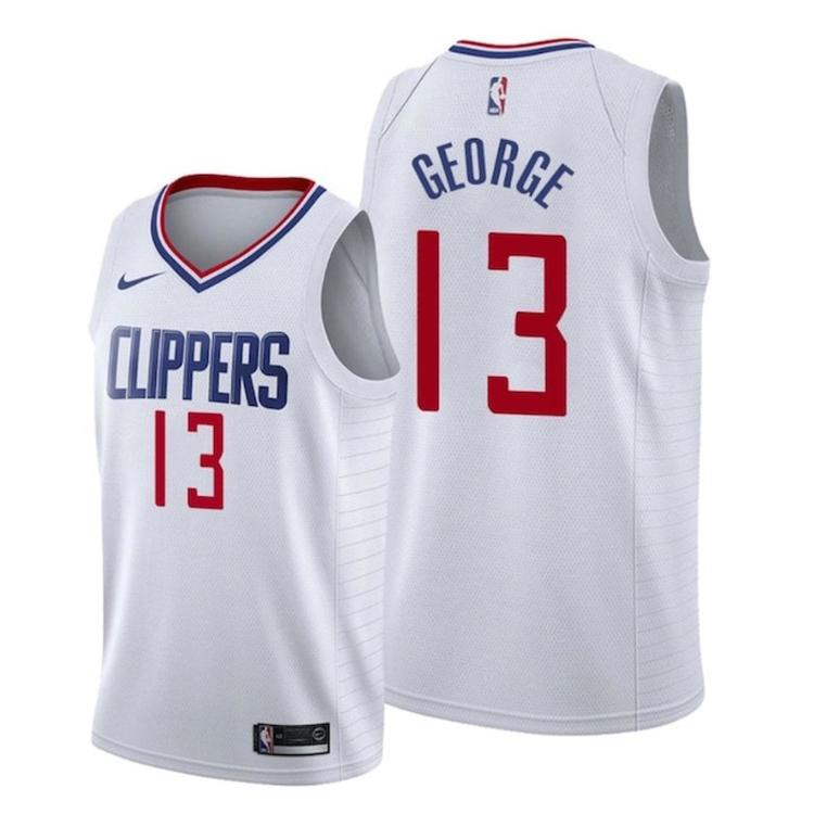 timeless design 2ea32 09312 2019-20 LA Clippers Paul George 13 Fully Stitched Jersey