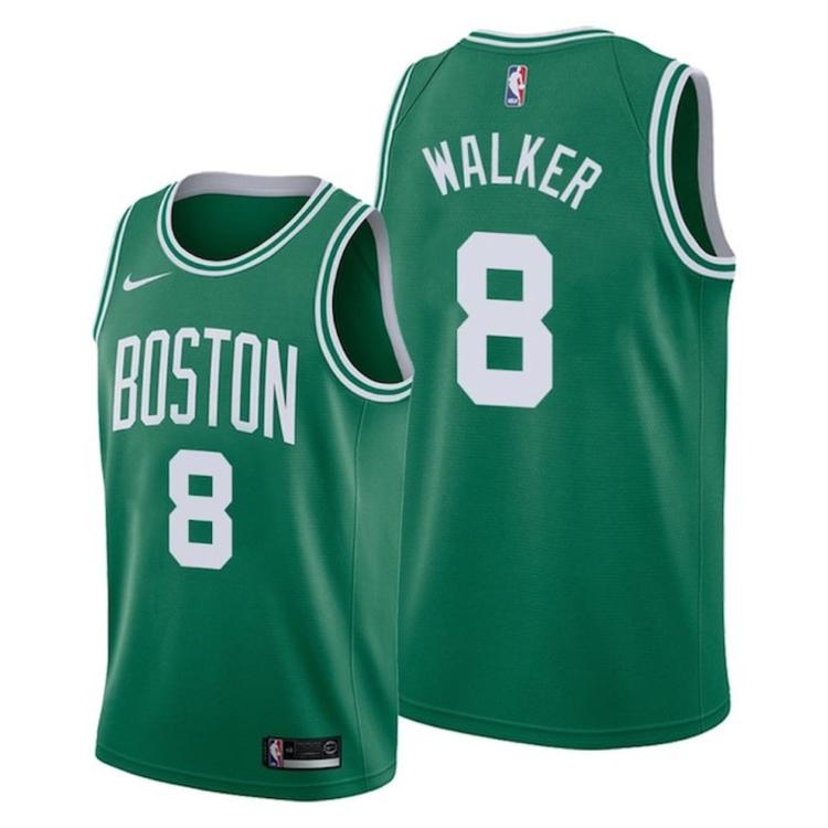 newest 8f853 5d4cf 2019-20 Boston Celtics Walker 8 Green Fully Stitched Jersey