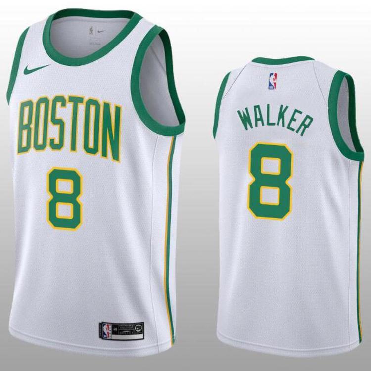 newest 8985b 2f287 2019-20 Boston Celtics Walker 8 White Fully Stitched Jersey