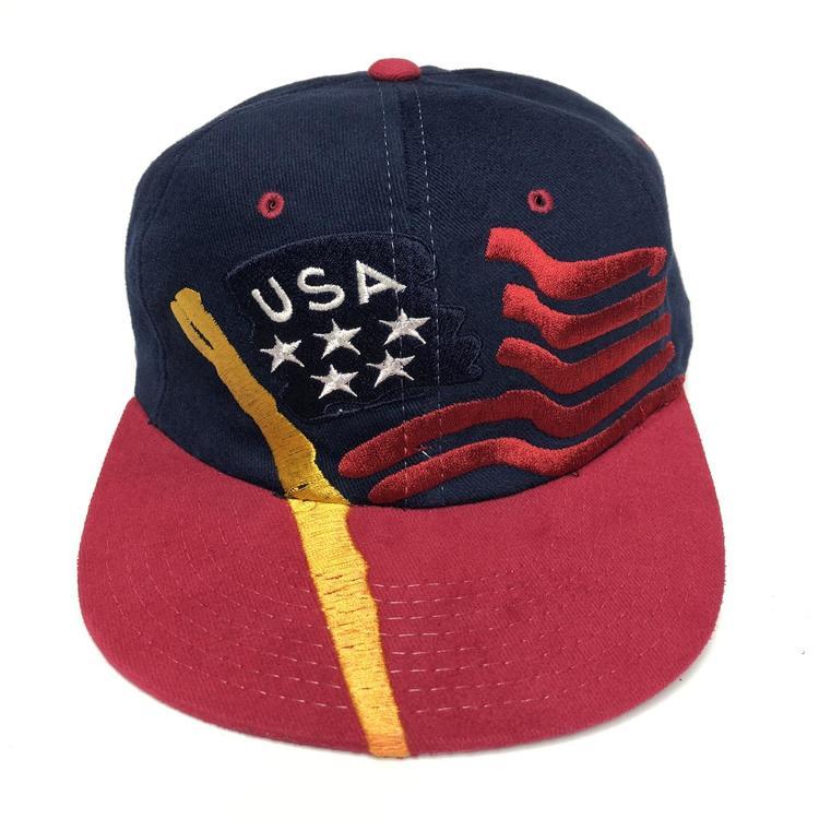 adebe48b4 Vintage USA Olympic Flag Snapback Hat Champion Rare