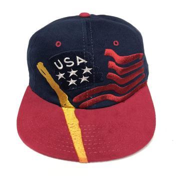 805fad04a Champion Vintage USA Olympic Flag Snapback Hat Rare | NEW LISTING ...