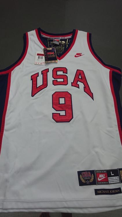 premium selection 60f2a 191bd Nike Jordan 1984 Team USA Olympic Jersey