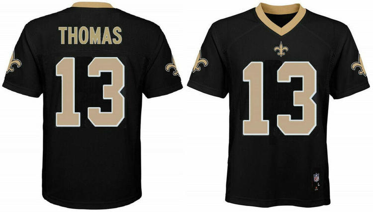 innovative design a87c6 5a0dc Michael Thomas New Orleans Saints 13 NFL Black Home Boys Jersey Outerstuff  Youth