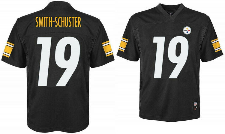 buy popular 979fe af2af JuJu Smith-Schuster Pittsburgh Steelers NFL Boys Black Jersey Outerstuff  Youth