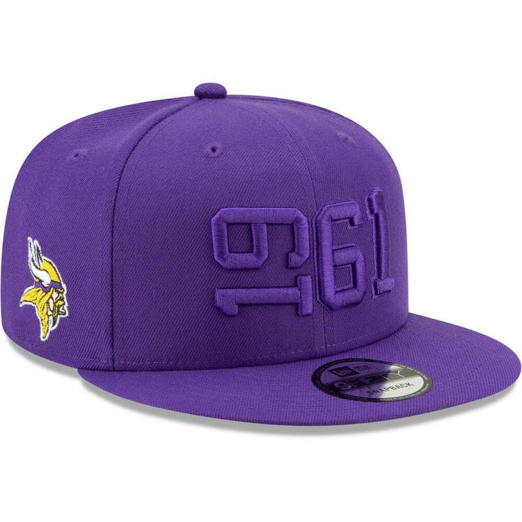 fc5ff5595 2019 Minnesota Vikings New Era 9FIFTY NFL Color Rush Sideline Snapback Hat  Cap