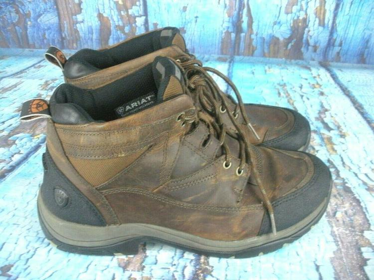 6cc3b49df2d Ariat Terrain ATS 10002182 Brown Leather Work Hiking Riding Boots Men's 9.5  D