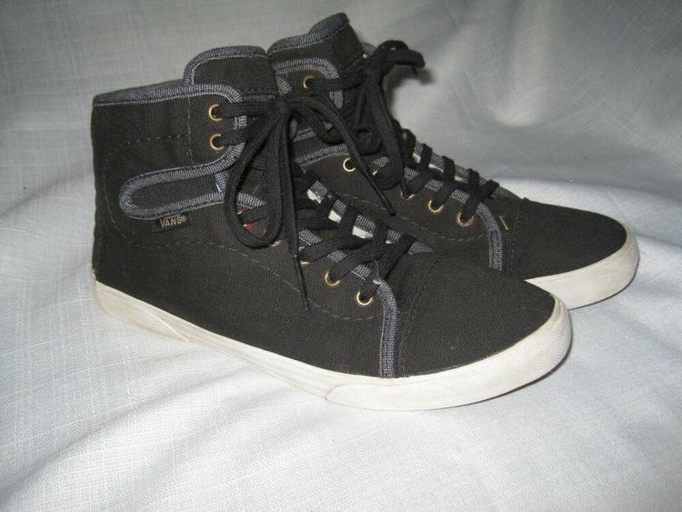 Vans TB6Q Canvas High Top Shoes Women's 7 Black