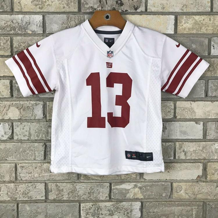 pretty nice 68597 3caed Nike Odell Beckham Jr. Youth Kids Medium 5-6 NY Giants AWAY NFL Football  Jersey