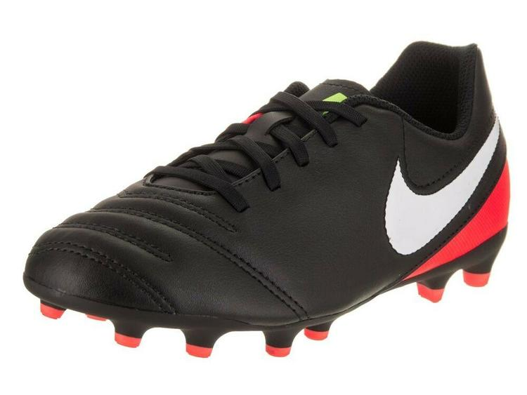 super popular bc585 ca823 Nike Jr Tiempo Soccer Cleats Black/Red Size 2.5Y 819195-018