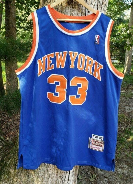 huge discount 9a50b dbac7 New York Knicks Patrick Ewing Mitchell & Ness Authentic Jersey Sz 48 1985