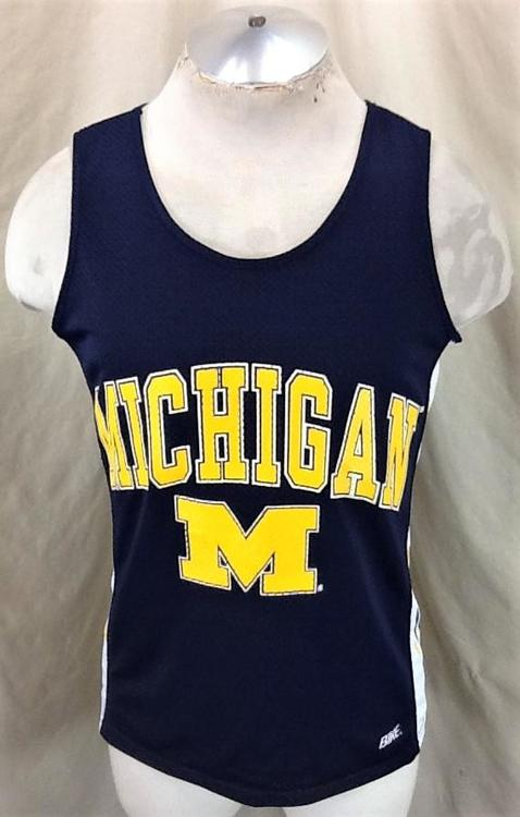 the latest cc9dc da327 Vintage 80's Bike Michigan Wolverines (Small/Med) Retro NCAA Graphic  Basketball Jersey