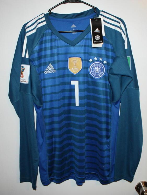new concept d3e1e 87bd2 New adidas Germany Home Goalkeeper Jersey 2018 Neuer 1