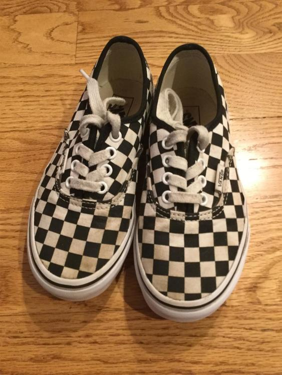 checked vans