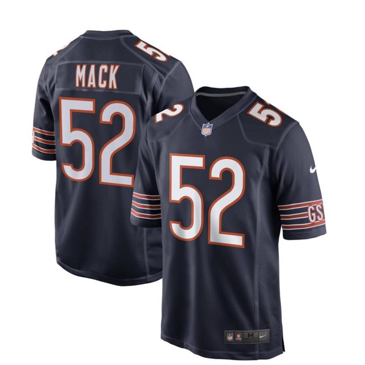huge selection of 8dbce 10e83 NWT Mens Chicago Bears Mack #52 NFL Jersey Fully Stitched